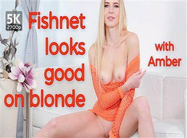 Fishnet Looks Good On Blonde