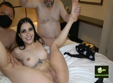 Kaitlyn Katsaros Fucks 2 Guys And Gets A Creampie Part 2