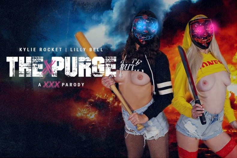 The Purge Is Cumming – Lilly Bell, Kylie Rocket (Oculus, Go 4K)
